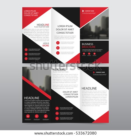 red brochure template - tri fold stock images royalty free images vectors