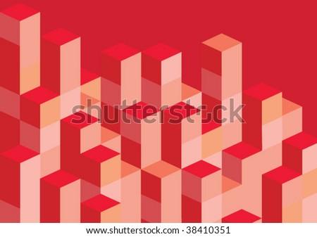 red blocks - stock vector