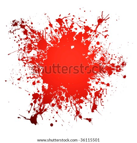 Red blood ink splat with room to add your own copy