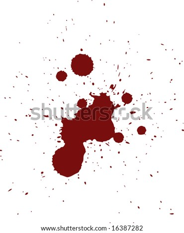 Red Blood Spatter Pattern in Vector  Format