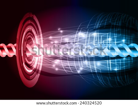 red blue color abstract technology background for for computer graphic website internet and business - stock vector