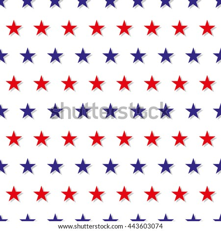 Red Blue Star Abstract White Background Vector Illustration