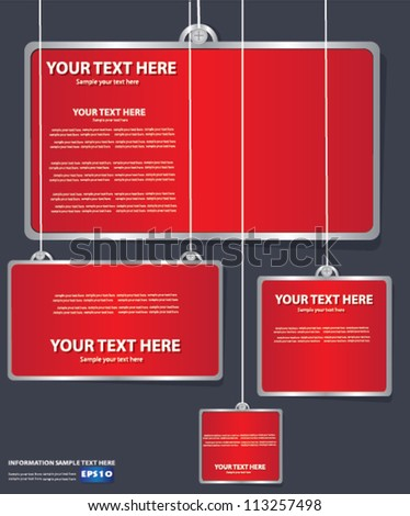 Red board, abstract,Vector - stock vector