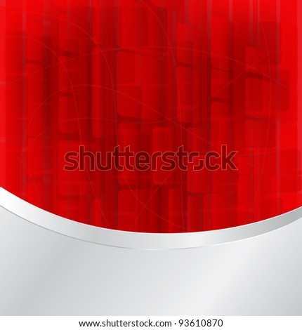 red bokeh abstract light background with silver frame - Vector illustration eps10