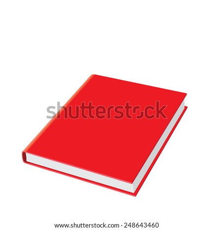 Red Book - stock vector