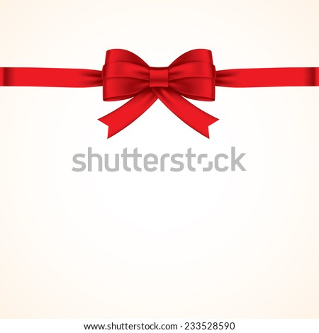 red bows with red ribbon - stock vector