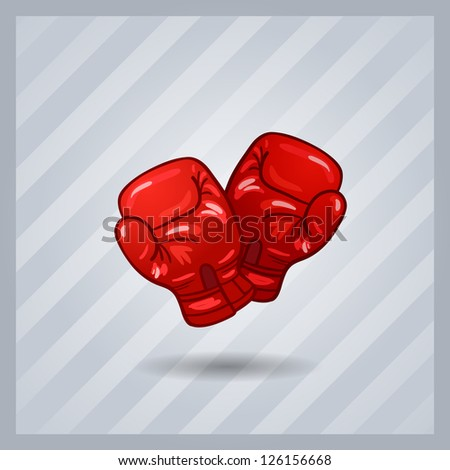 red boxing gloves isolated.sport item - stock vector