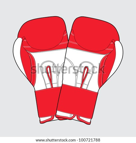 red boxing gloves on gray background