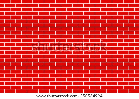 Red brick wall background - Vector - stock vector