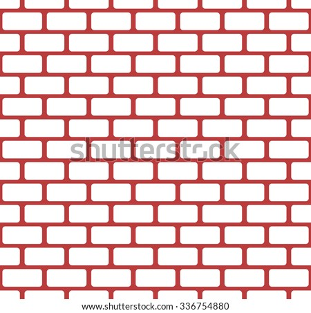 Red brick wall, stonewall seamless pattern - stock vector