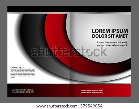 red brochure template  - stock vector