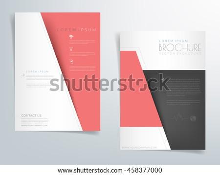 Red Brochure Template Flyer Background Header Stock Vector 458377000