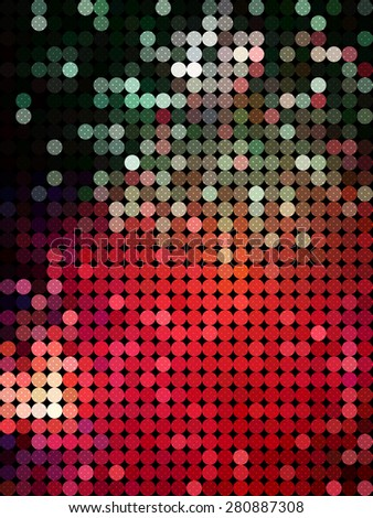 Red bubble and snow flake background