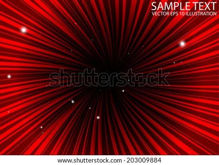 Red burst vector background illustration - Vector red star burst background template - stock vector