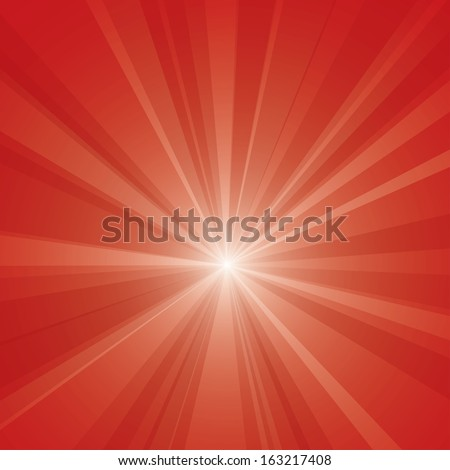 Red burst vector illustration. - stock vector