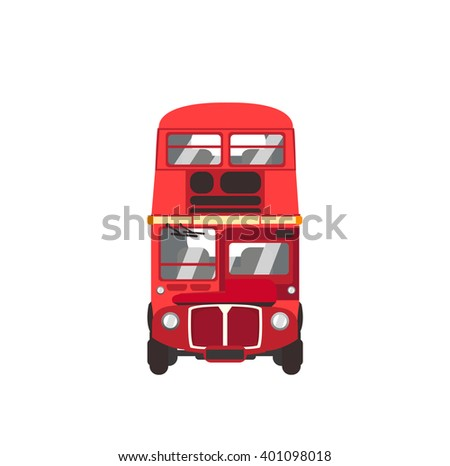 Red Bus - stock vector