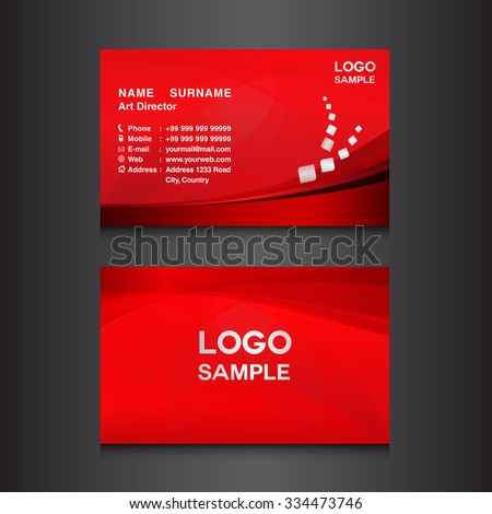 Red business card design template vector stock vector 334473746 red business card design template vector illustration colourmoves