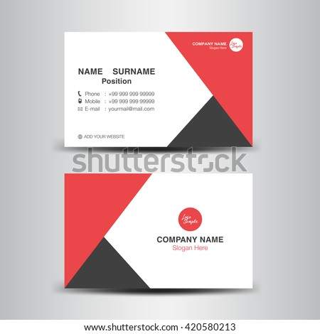 Red business card vector backgroundflyer designpolygon stock photo red business card vector backgroundflyer designpolygon backgroundname card template flashek Choice Image