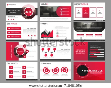 Red Business Presentation Infographic Elements Template Stock Photo