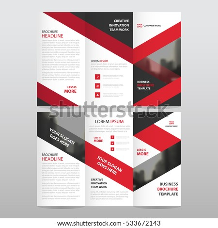 Folded brochure stock images royalty free images for Red brochure template
