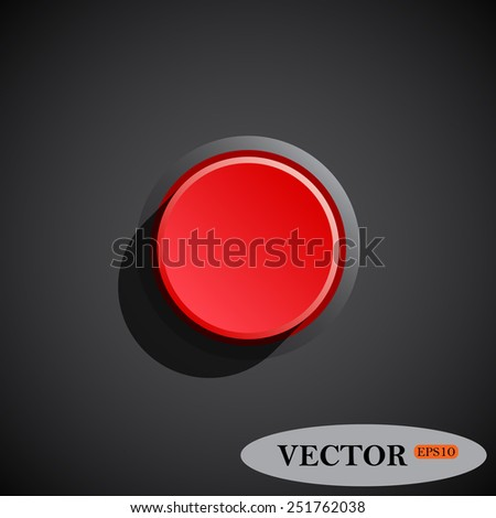 Red button start, stop. Vector illustration, EPS 10