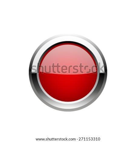 Red Button. Vector - stock vector