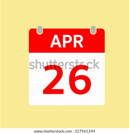 Red Calendar icon - Apr 26