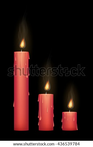 red candle burning
