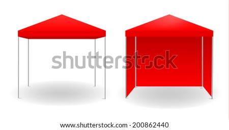 Red canopy, vector illustration. - stock vector