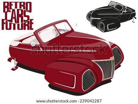 red car of the future(cabriolet), roadster