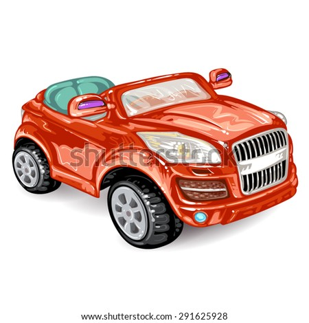 Red car on white  - stock vector
