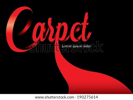 Red carpet design template - stock vector