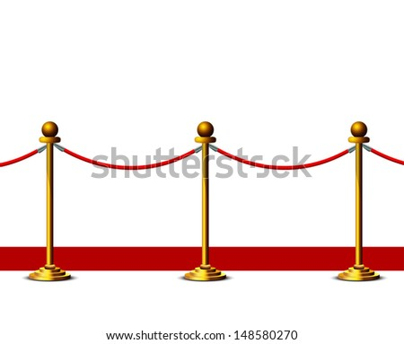 red carpet isolated on a white background - stock vector