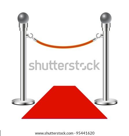 Red carpet � No entry - stock vector