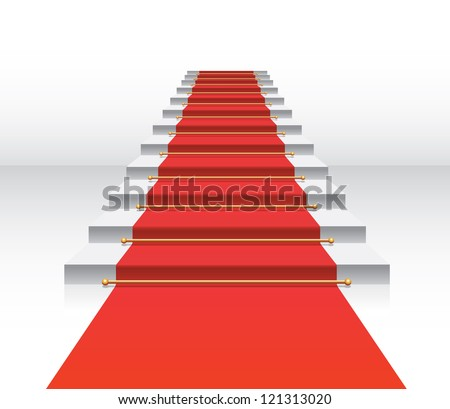 red carpet staircase vector