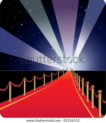 Red carpet - vector. - stock vector