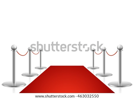 Red carpet vector illustration. Awards show background