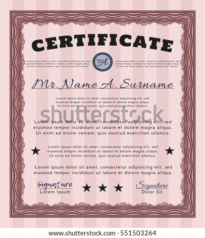 Red Certificate. Money design. Customizable, Easy to edit and change colors. With quality background.