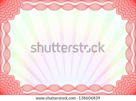 Red certificate template colorful background stock photo photo red certificate template with colorful background yadclub Choice Image