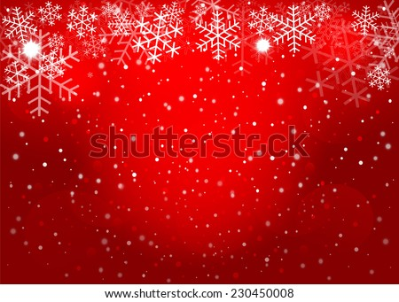 Red Christmas background. Vector EPS10. - stock vector