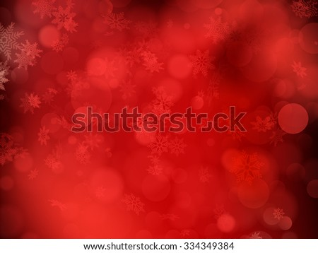 Red christmas background with snowflakes. EPS 10 vector file included - stock vector