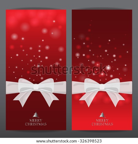 red christmas holiday and new year gift voucher certificate coupon template. can be use for business shopping card, customer sale and promotion, layout, banner, web design. vector illustration