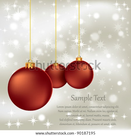 Red Christmas Ornament - stock vector