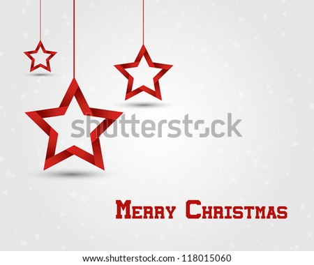 red christmas stars. christmas concept. - stock vector