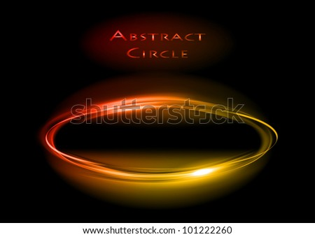 red circle on the black background - stock vector