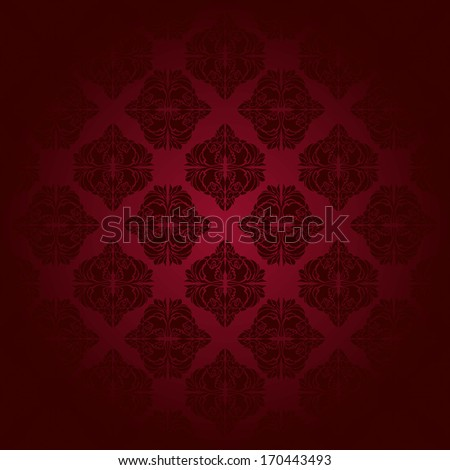 Red classic seamless pattern. Hand drawn vector illustration. Eps 10