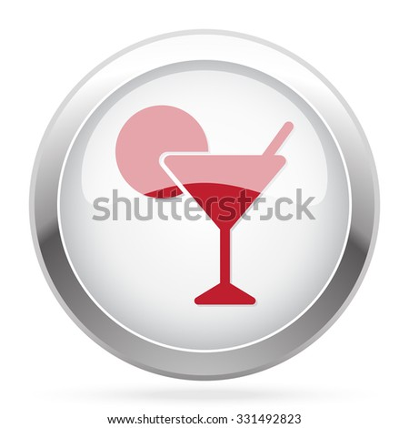 Red Cocktail icon on chrome web button