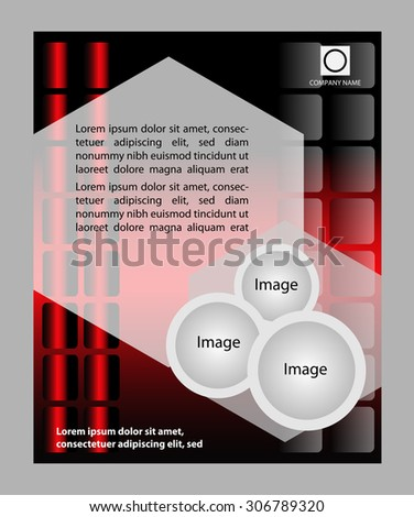 Red color background with space for your message  - stock vector