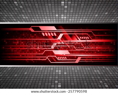 red color Light Abstract Technology background for computer graphic website internet and business. circuit. black background. text box. label. card. - stock vector