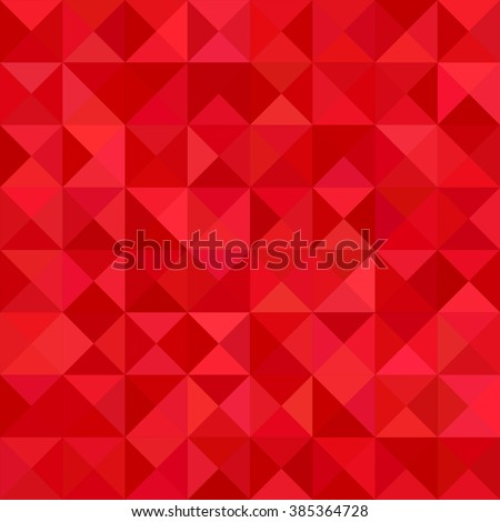 Red color triangle mosaic vector background design - stock vector